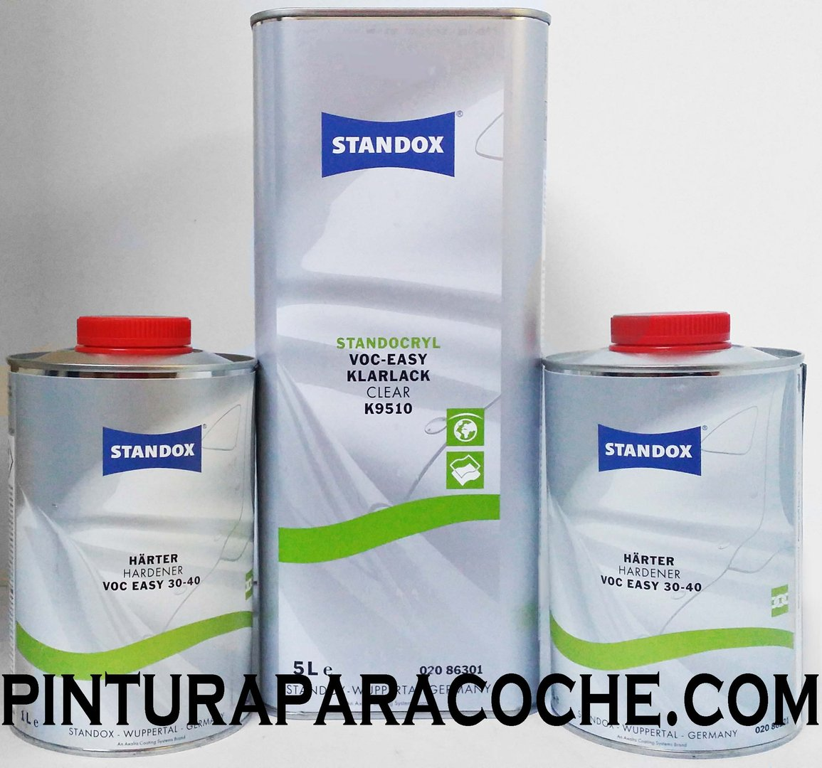 Kit Standox Barniz Easy 5lt. + 2 Catalizadores Easy Lento 1lt