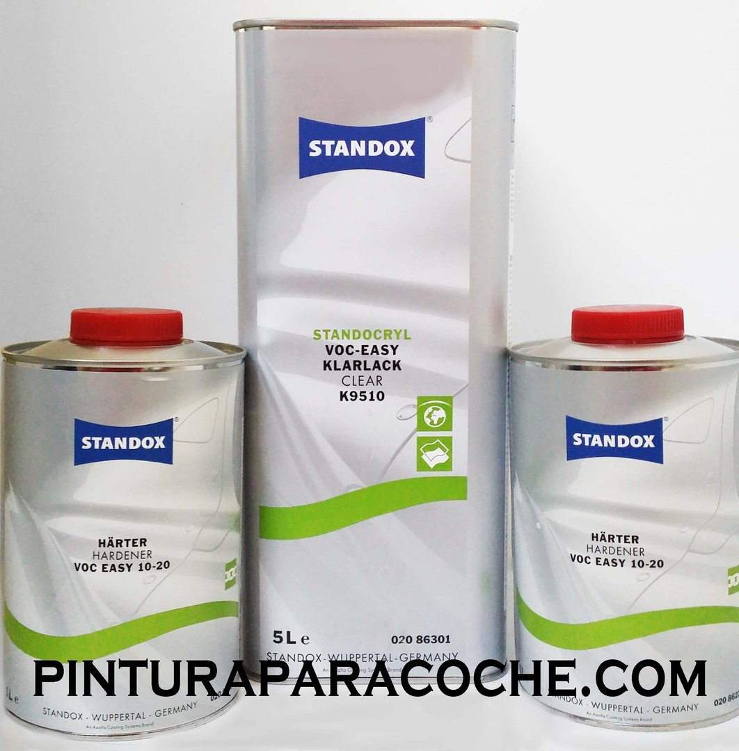 Kit Standox Barniz Easy 5lt. + 2 Catalizadores Easy Rapido 1lt.