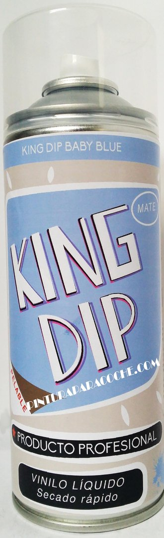 Spray Pintura King Dip Vinilo Azul Mate 400ml.