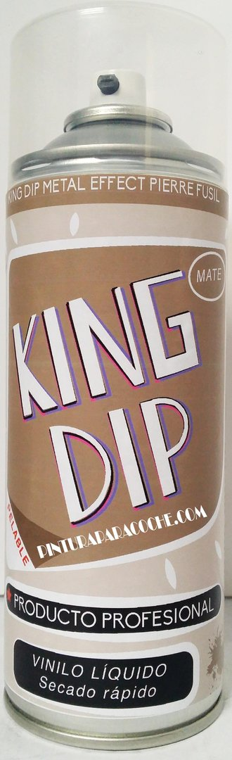 Spray Pintura King Dip Vinilo Metalizado Pierre Fusil Mate 400ml.