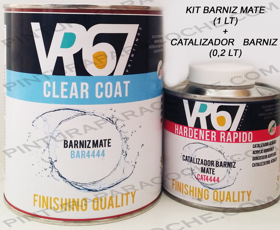 Kit Barniz Mate + Catalizador 1,2lt.